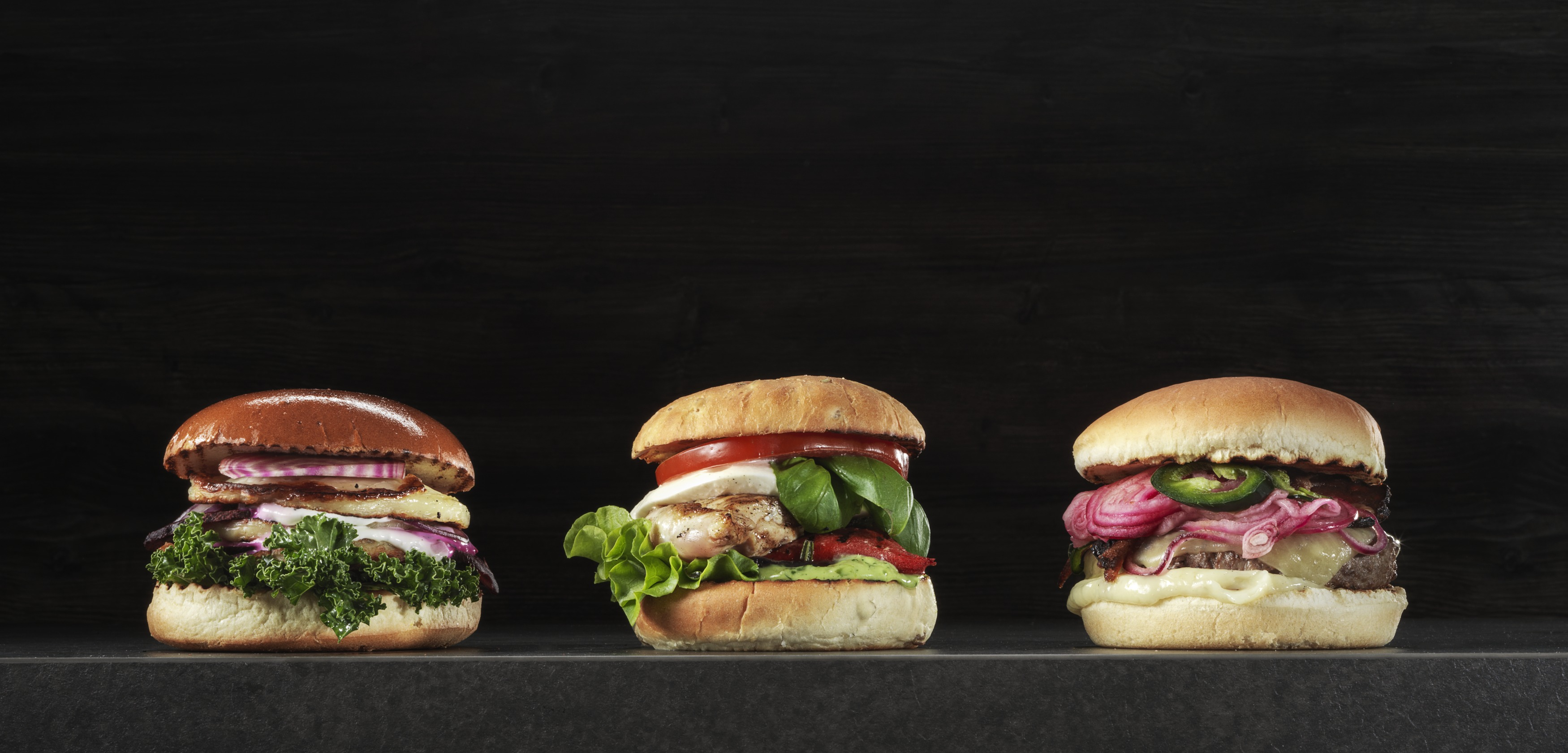 51650 Bistro Brioche- & Potato- & Brooklyn burger bun - portion tryck