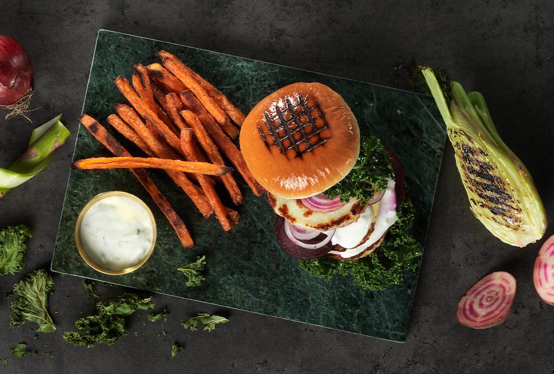 51654 Bistro Brioche korv- & hamburgerbröd - samlingsbild med tillbehör tryck